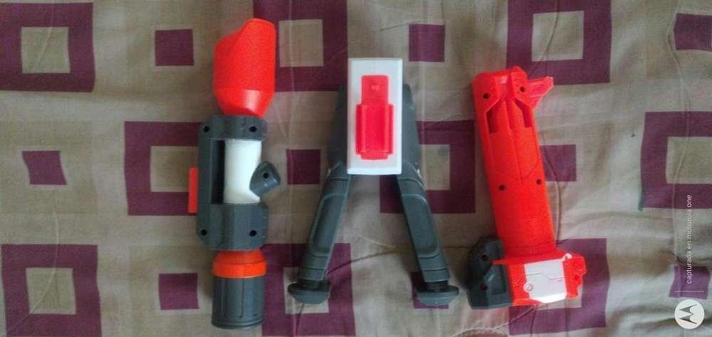 Pistolas nerf y accesorios