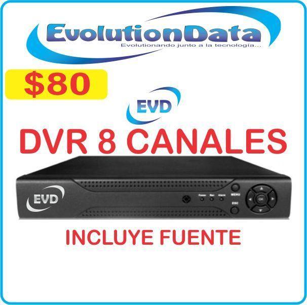 DVR 8 Canales EVD HD 1080P Incluye Fuente de Poder Somos EVOLUTIONDATA