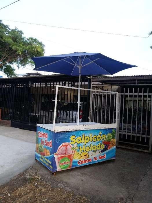 Carro de Salpicon con Sombrilla