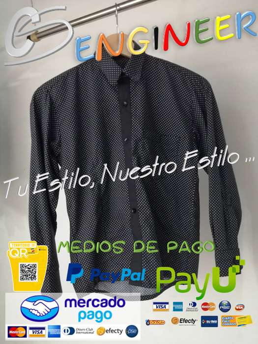 CS ENGINEER MAN / HOMBRE - Camisa Manga Larga en Tela Chantilly Pepas
