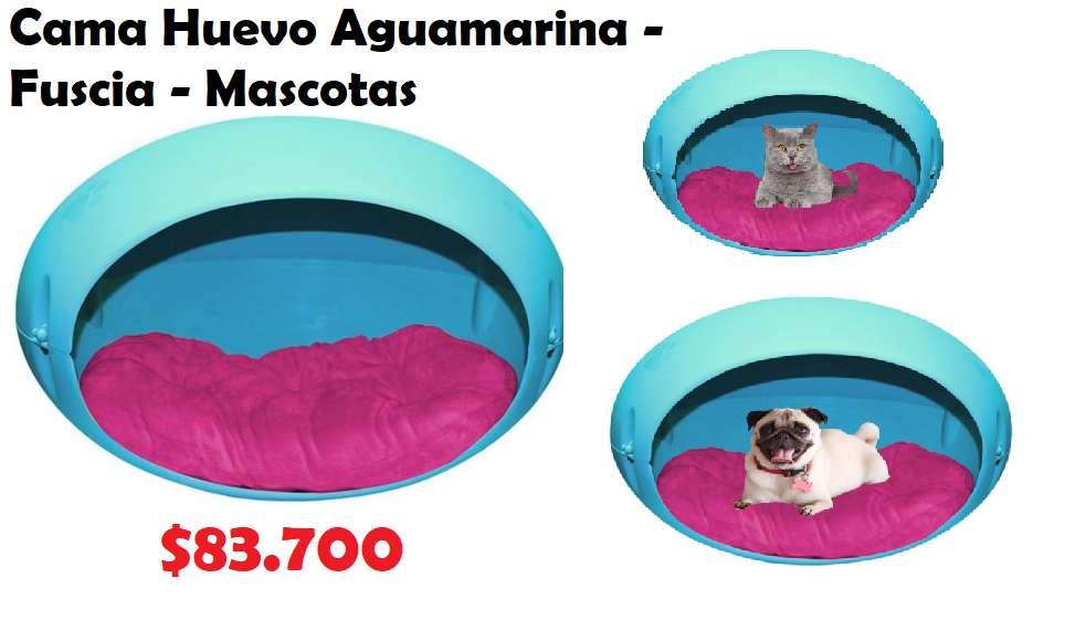 Cama Huevo Aguamarina -Fuscia - Mascotas