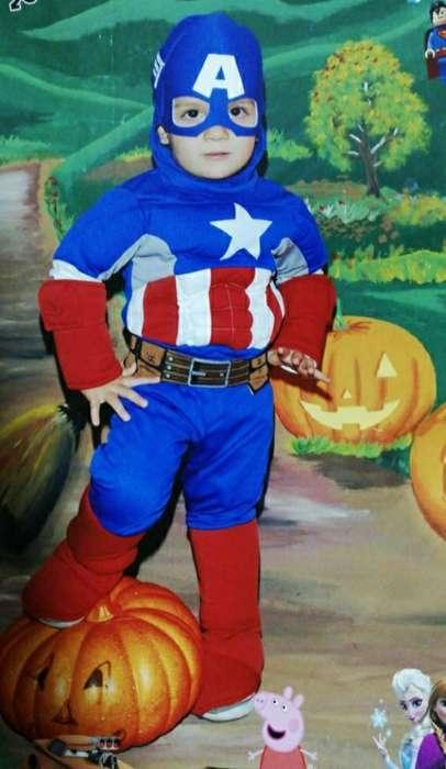 Disfraz de Niño de Capitán América