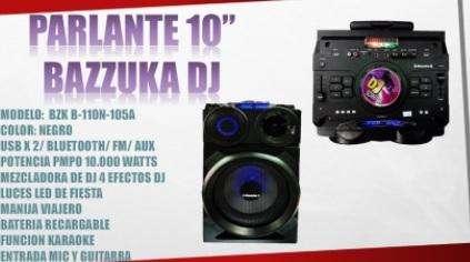 PARLANTE 10'' BAZUKA DJ / 0999544858 / 100.00/ Increibles precios al por mayor
