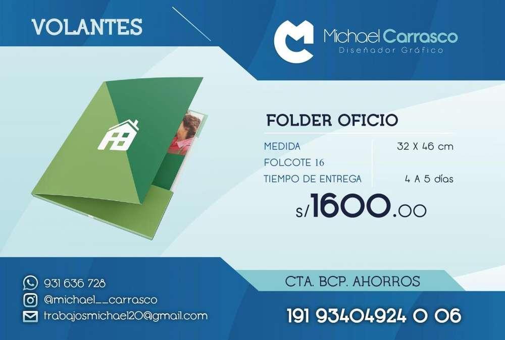Folder con Diseño