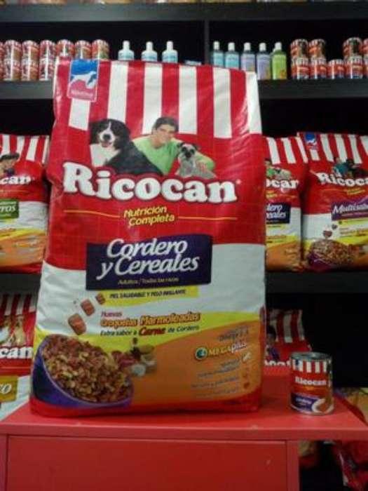 Rico Can Cereales Y Cordero 15 Kg