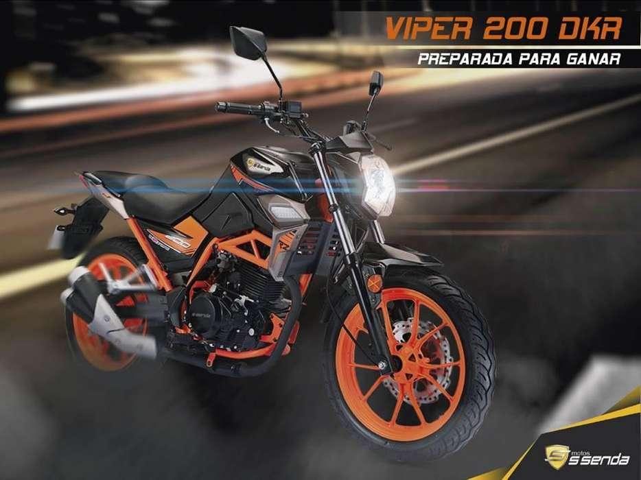 Moto ssenda Viper 200 Dkr