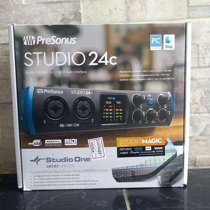 Interfaz De Audio PreSonus Studio 24c
