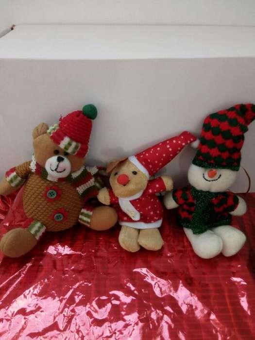 Vendo Tres Muñecos Navideños en Paño