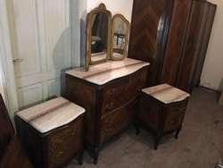 Juego dormitorio muebles antigos
