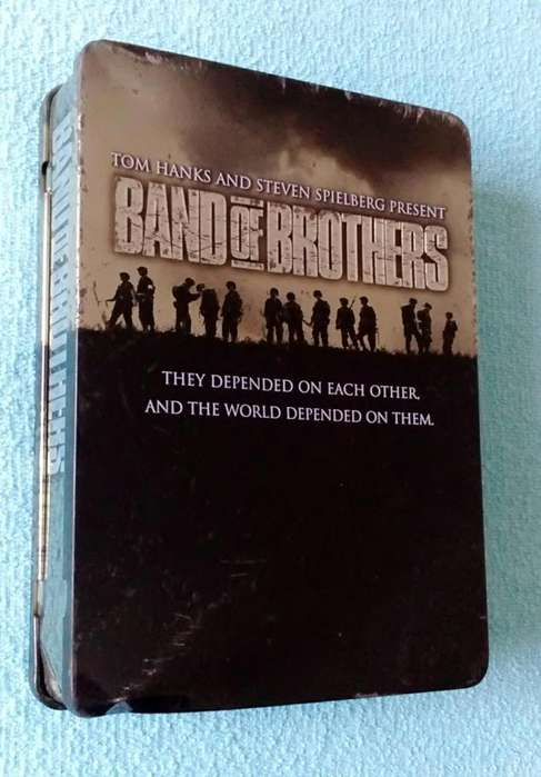 Metal lata Band of Brothers tom hanks and steven spielberg original