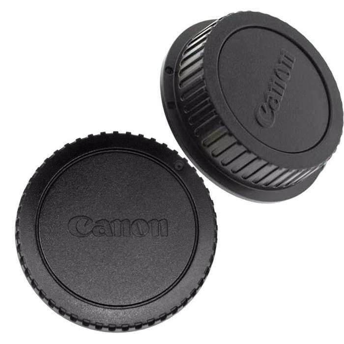 Kit de tapa de cuerpo de camara <strong>canon</strong> EOS y tapa trasera lente tipo EF