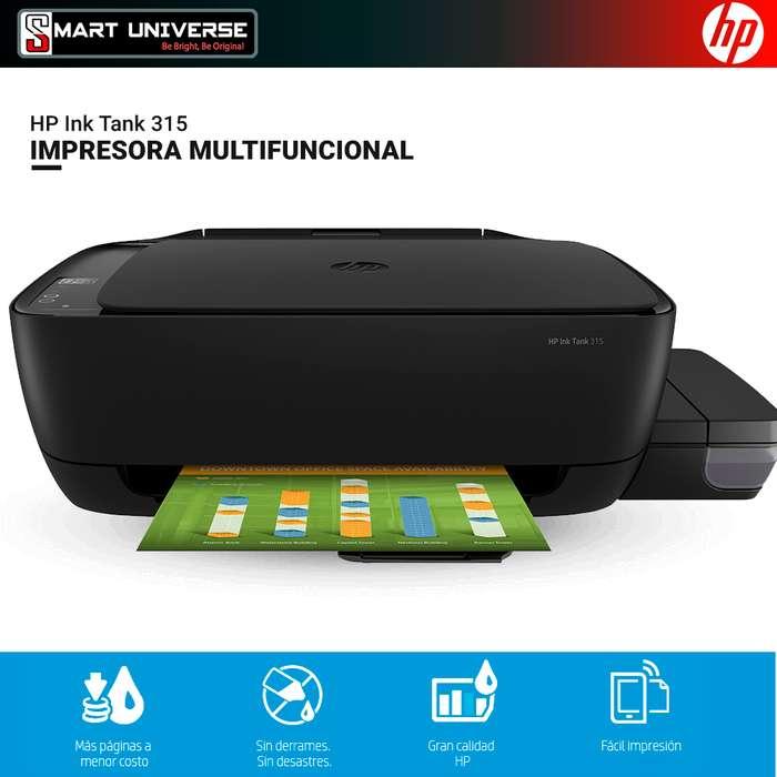 Impresora AIO Hp 315 Multinacional Tinta Continua Usb