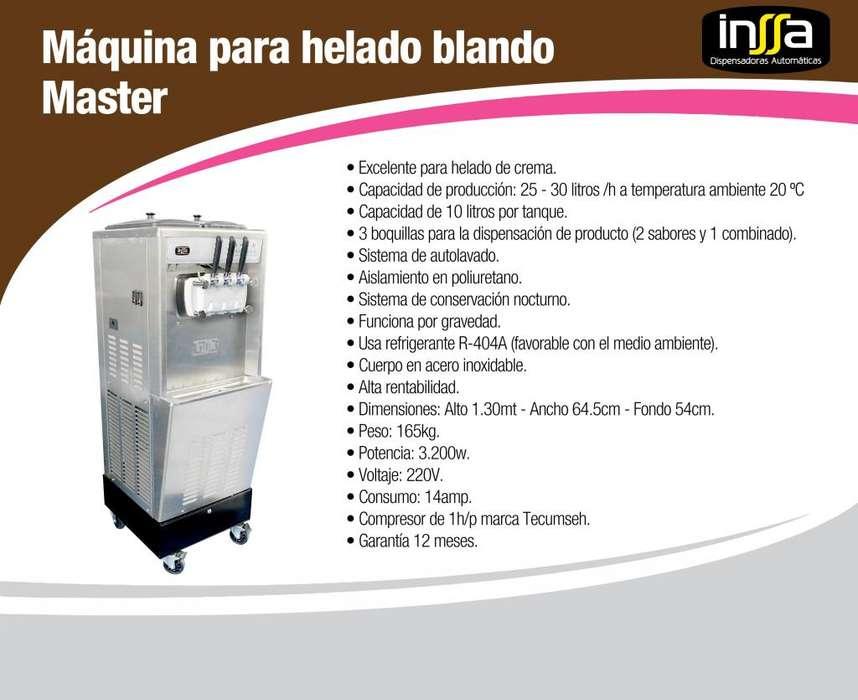 Máquina de helado suave, marca INSSA
