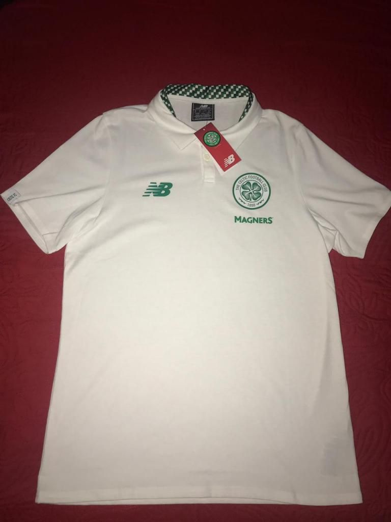 Camiseta Tipo Polo Celtic New Balance Original