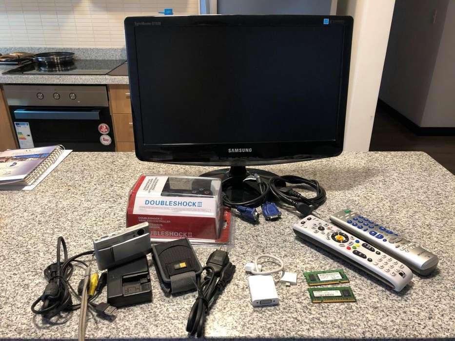 Remate Monitor, Cámara, Parlante, Televisor, Controles, Adaptadores Apple, Memorias RAM