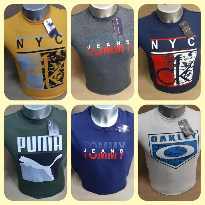 camisetas en diferentes tallas