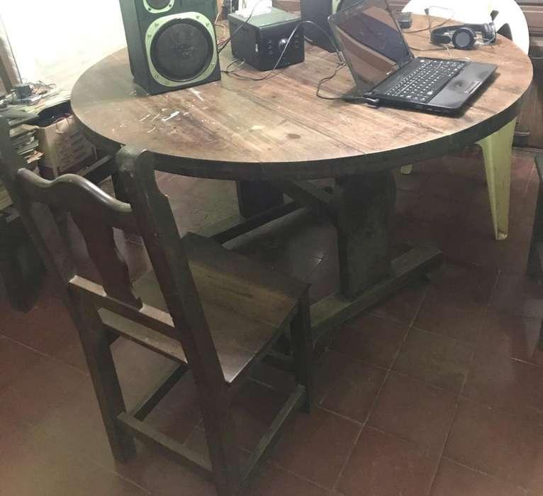 Mesa Algarrobo y sillas