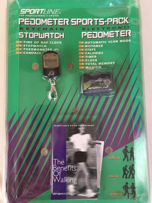 VENDO PEDOMETER SPORTPACK MARCA SPORTLINE CONTIENE KEYCHAIN STOPWATCH Y ELECTRONIC PEDOMETER Q50.00