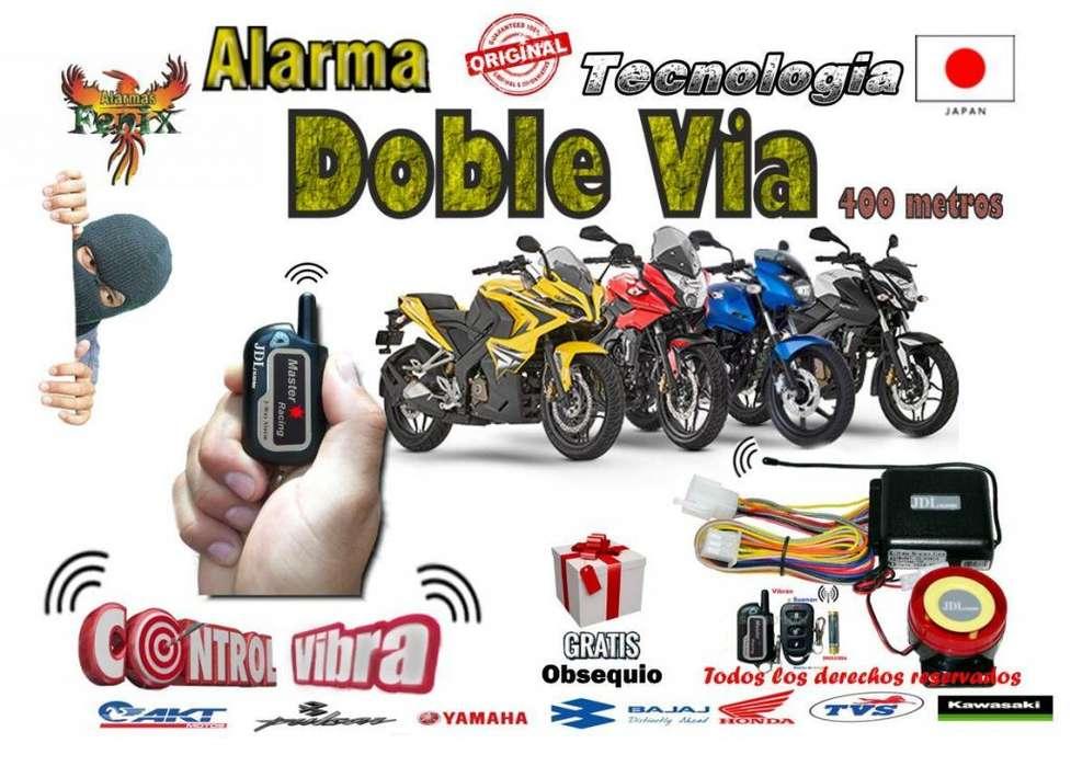 Alarma Doble Vía Vibra A 400 mts Domicilio Y Obsequio Gratis