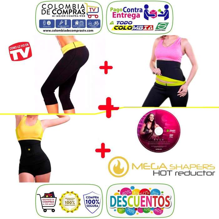 Pantalón Hot Tv Cinturilla Cintura Avispa Shapers, Nuevos, Originales, Garantizados