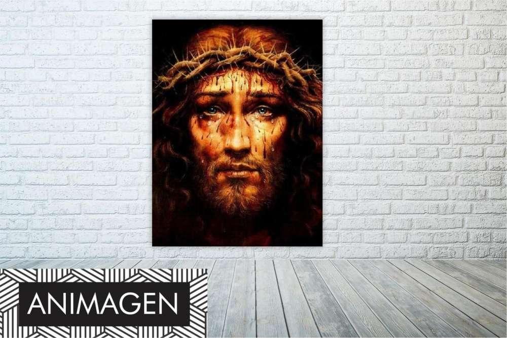 cristo moderno con corona de espinas 9865