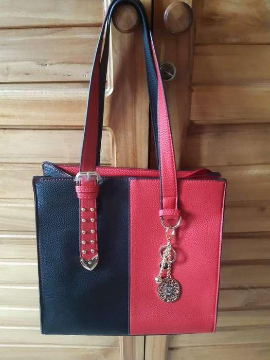 Bolso Rojo con Negro Nuevo