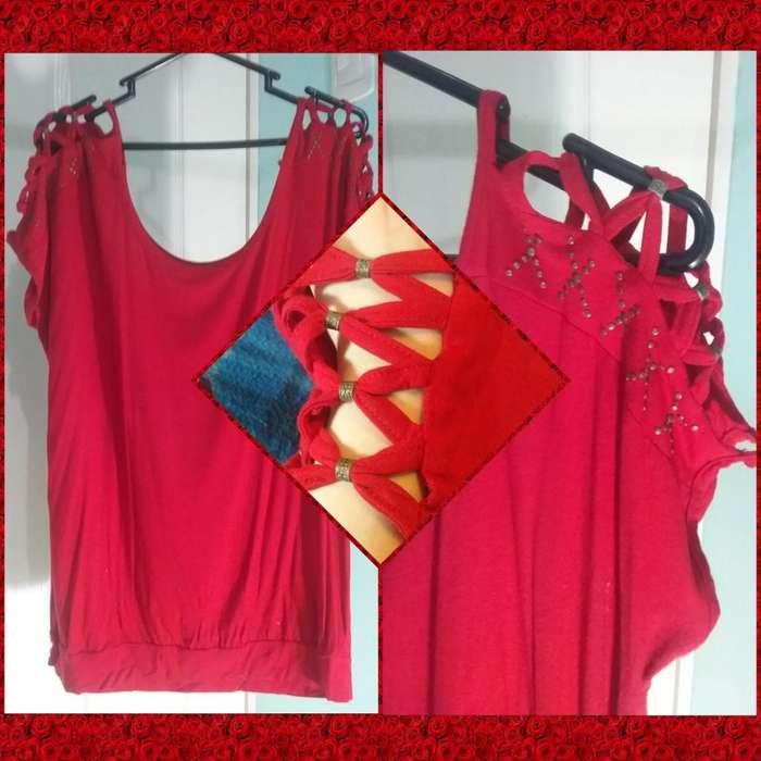 Polo Rojo para Mujer Talla XXL Ligeramente Usado