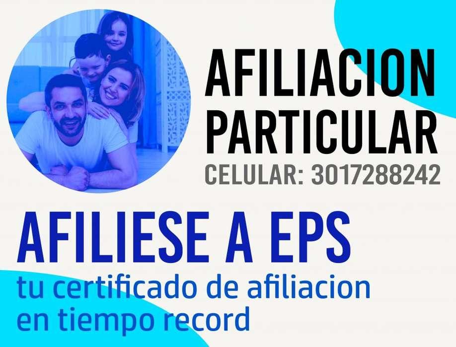 AFILIACION EPS INDEPENDIENTE - Celular 3017288242 Convenio con todas las EPS y las mejores cajas de compensacion