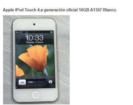 Vendo -Permuto.. ipod touch cuarta generación.. 16 gb ...