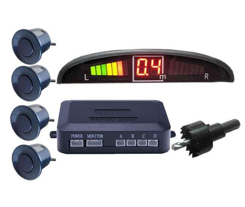 PAGO CONTRA ENTREGA, Sensor De Reversa Colores Media Luna De 4 Sensores