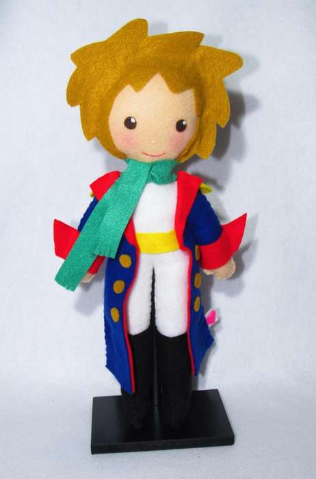 Muñeco del Principito en paño lency