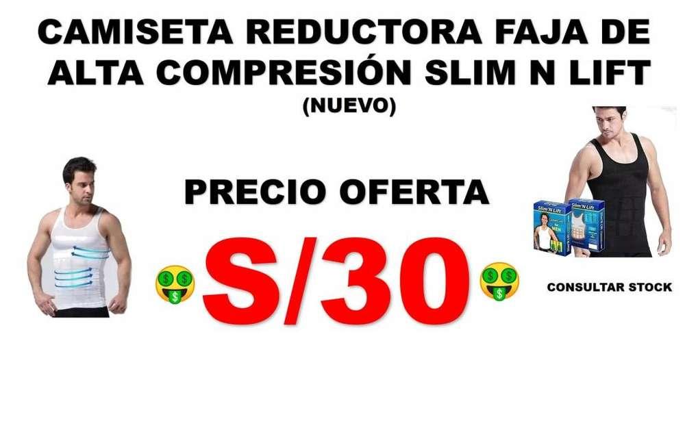 Camiseta Reductora Faja De Alta Compresión Slim N Lift (NUEVO)