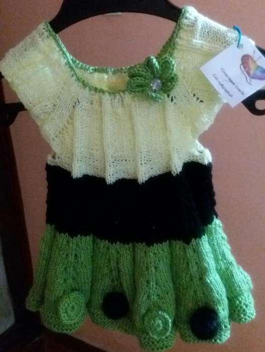 Vestido tejido verde