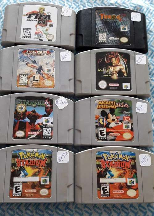 Juegos Originales para Nintendo64