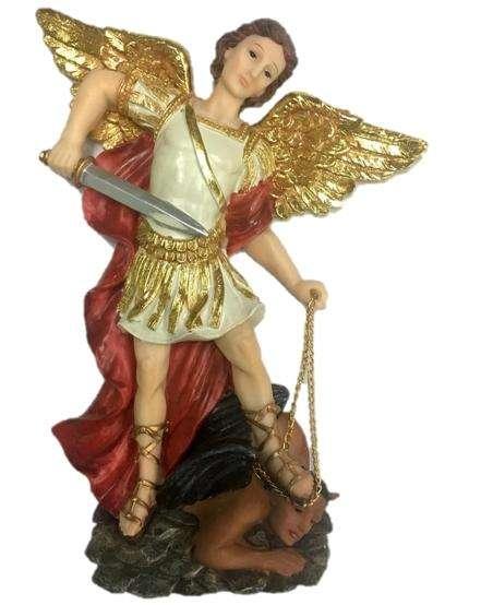 Arcángel San Miguel Medida 30.5 Cm Material Marmolina