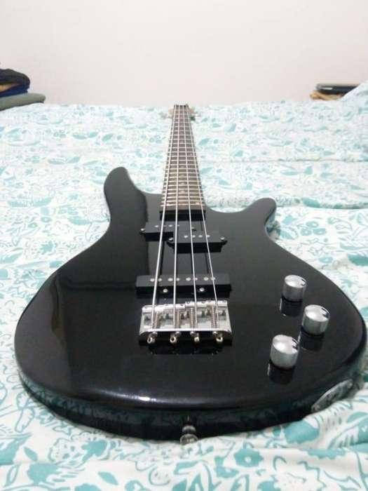 Bajo Electrico Parquer Jazz Bass Negro Con Funda