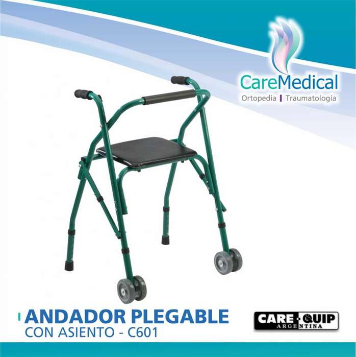Andador Plegable con Asiento - Care Quip C601 - Ortopedia Care Medical