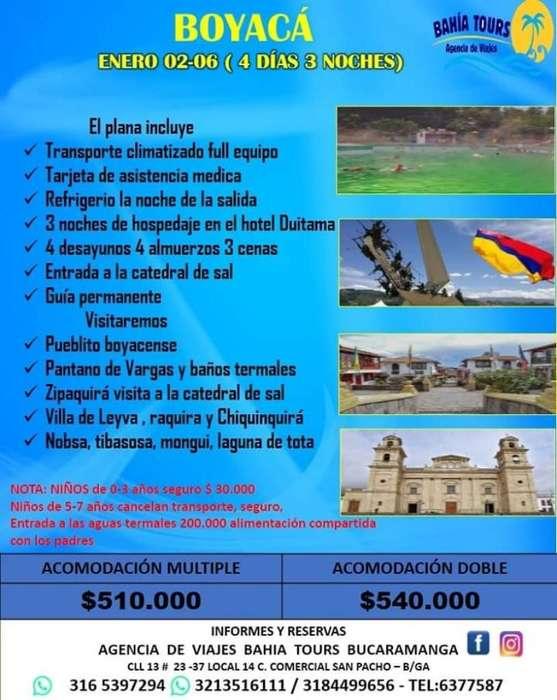 Tour Pueblos Boyaca Enero 2020