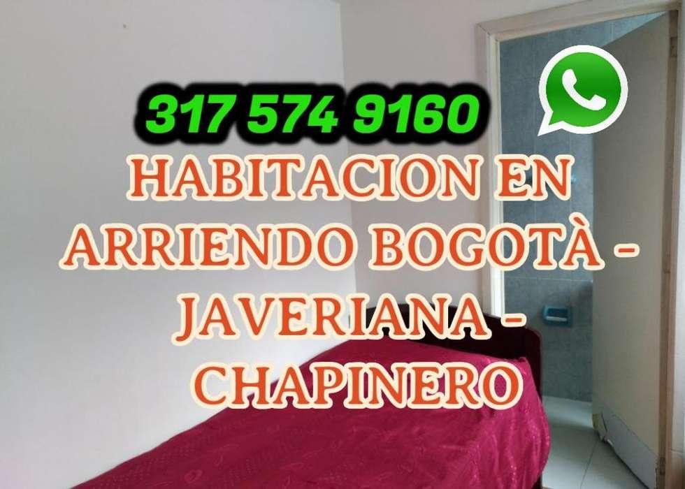 Arriendo Habitación Amoblada en Chapinero Bogotá en alrededores de Javeriana Catolica Santo Tomás Piloto