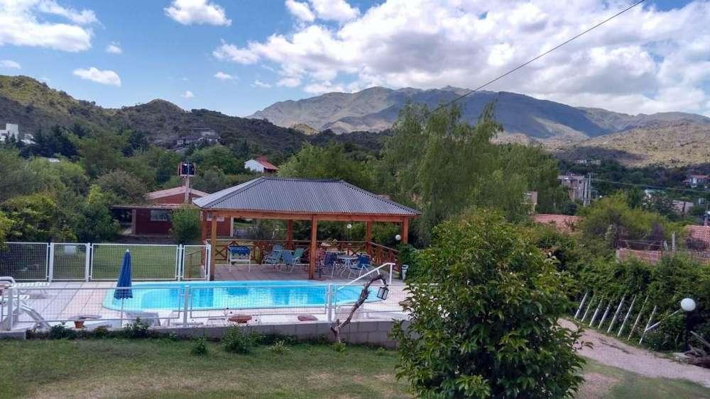 lm74 - Cabaña para 2 a 5 personas con pileta y cochera en Potrero De Los Funes