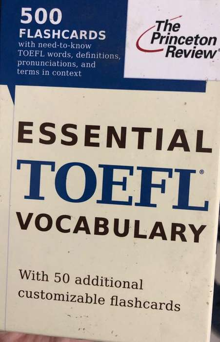 Toefl Flaschards and books