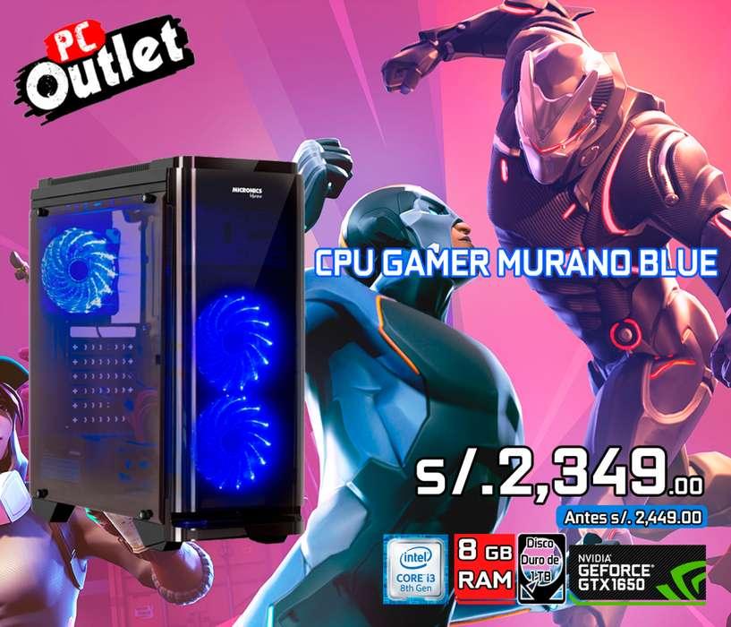 CPU GAMER Intel i3-8100 vd gtx 1650 4gb
