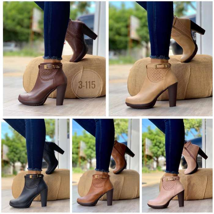 Zapato Bota Botin Texana Mujer