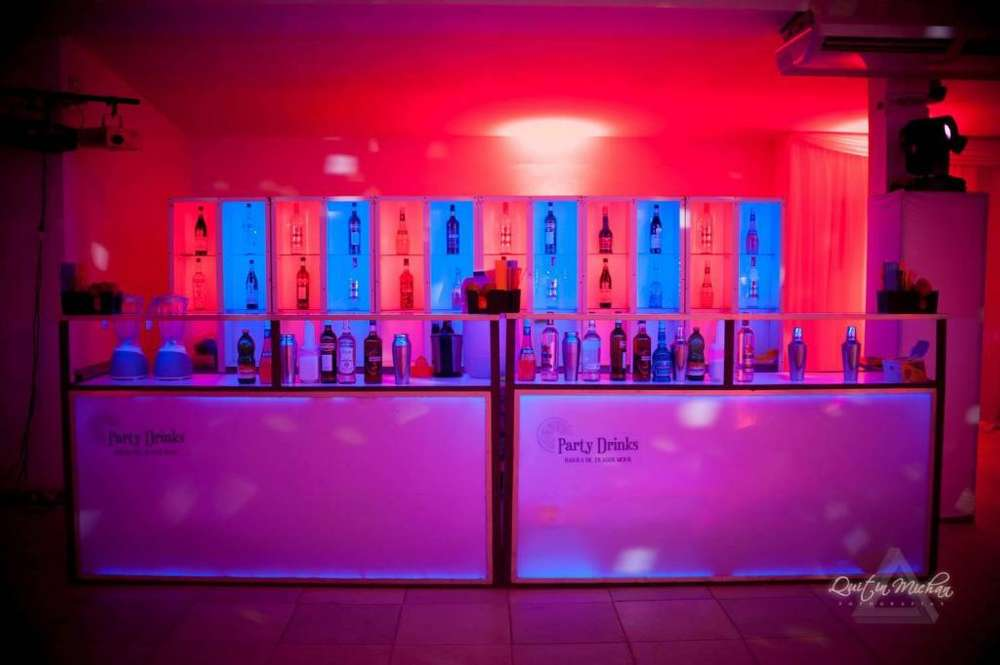 venta barra de tragos movil luces led eventos