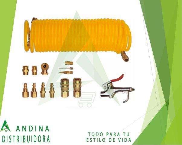 Kit Manguera Para Compresor De Aire 12 Piezas