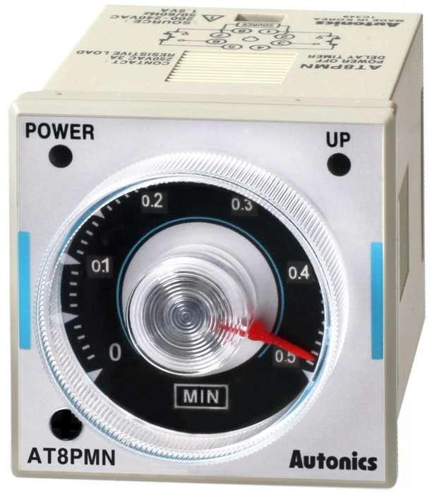 AT8PMN6,Temporizador Al reposo, 0.5 10min 48x48mm