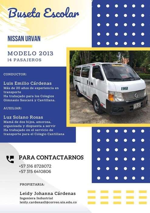Transporte Escolar - Nissan Urvan 2013