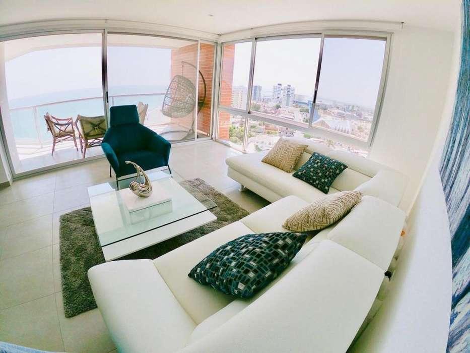 Se vende departamento amoblado en Edificio Ibiza, frente al mar, Manta