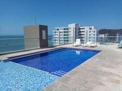 Apartamento con vista al mar y a las montañas en Pozos Colorados, Santa Marta