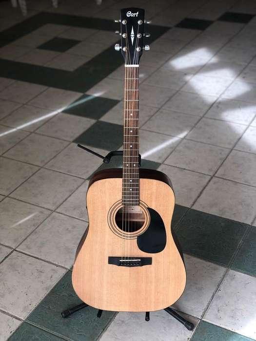 Guitarra Electroacustica Cort con Funda